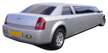 Chauffeur driven silver Chrysler 300 stretched limousine - School Proms, Birthdays, Anniversaries in Southampton and beyond.